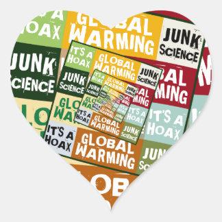 Global Warming Fraud Heart Sticker