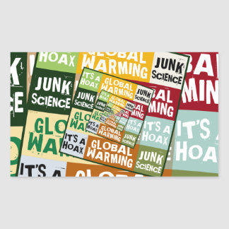 Global Warming Fraud Rectangular Sticker