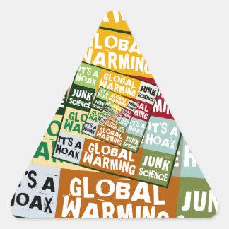 Global Warming Fraud Triangle Sticker