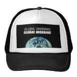 GLOBAL WARMING GLOBAL WARNING TRUCKER HAT