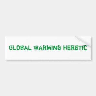 Global Warming Heretic Bumper Sticker