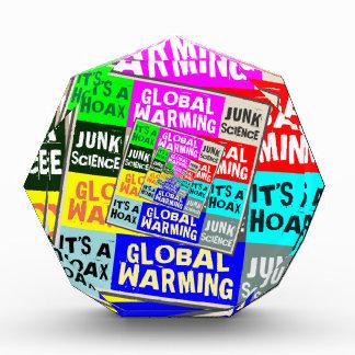 Global Warming Hoax Acrylic Award
