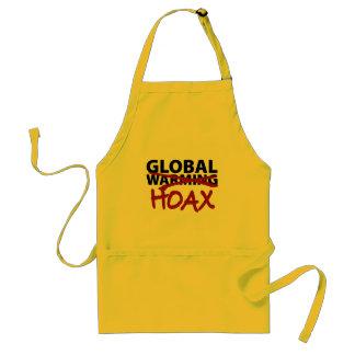 Global Warming Hoax Adult Apron