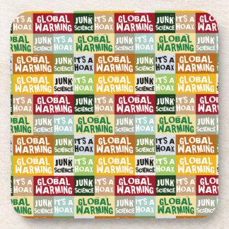Global Warming Hoax Beverage Coaster