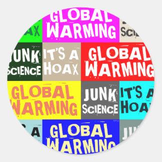 Global Warming Hoax Classic Round Sticker
