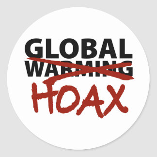 Global Warming Hoax Classic Round Sticker