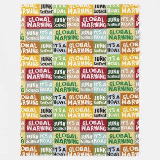 Global Warming Hoax Fleece Blanket