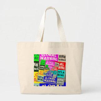 Global Warming Hoax Jumbo Tote Bag