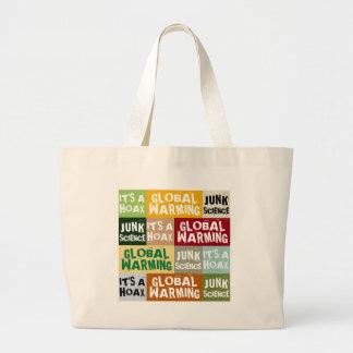 Global Warming Hoax Large Tote Bag