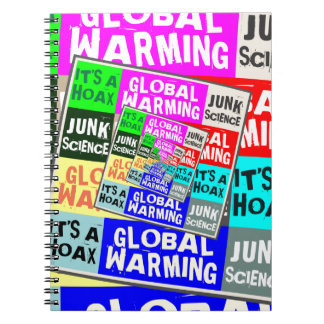 Global Warming Hoax Spiral Note Book