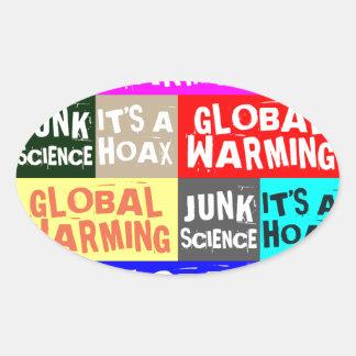 Global Warming Hoax Oval Sticker