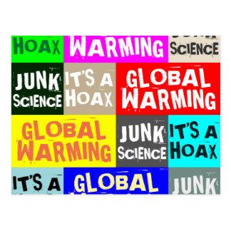 Global Warming Hoax Postcard