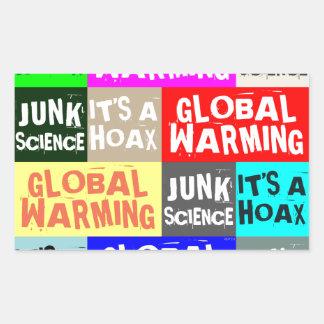 Global Warming Hoax Rectangular Sticker