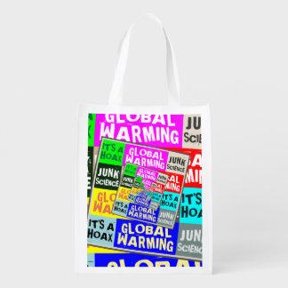 Global Warming Hoax Reusable Grocery Bag