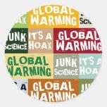 Global Warming Hoax Round Sticker