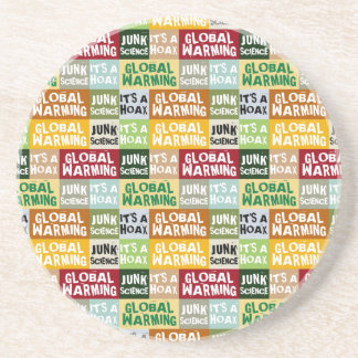 Global Warming Hoax Sandstone Coaster