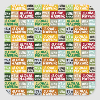 Global Warming Hoax Square Sticker