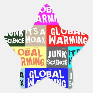Global Warming Hoax Star Sticker