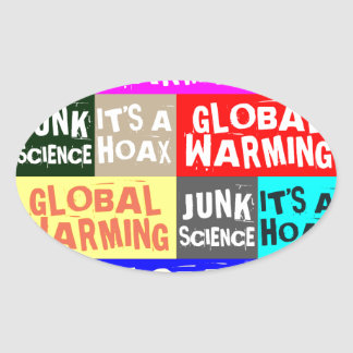 Global Warming Hoax Oval Sticker