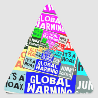 Global Warming Hoax Triangle Sticker