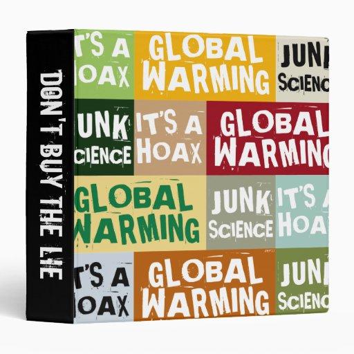 Global Warming Hoax Vinyl Binders