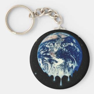 Global Warming II Basic Round Button Keychain