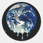 Global Warming II Classic Round Sticker