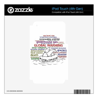 Global Warming impacts Polar Bear and cub iPod Touch 4G Decals