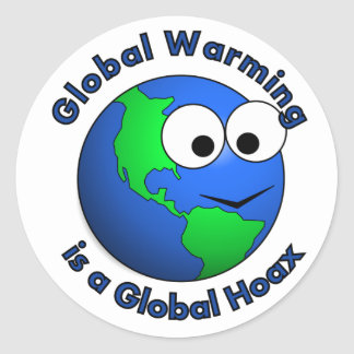 Global Warming is a Global Hoax Classic Round Sticker