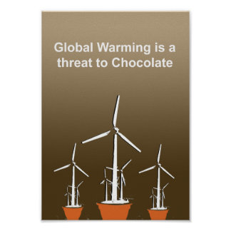 Global Warming is a threat to chocolate - Poster