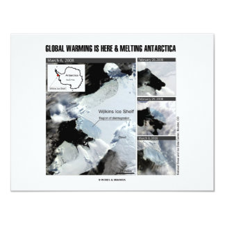 Global Warming Is Here And Melting Antarctica Card
