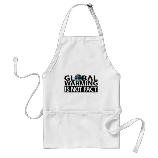 Global Warming is not Fact Adult Apron