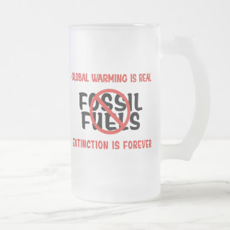 Global Warming Is Real Frosted Glass Beer Mug