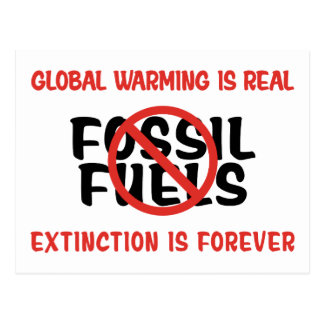 Global Warming Is Real Postcard