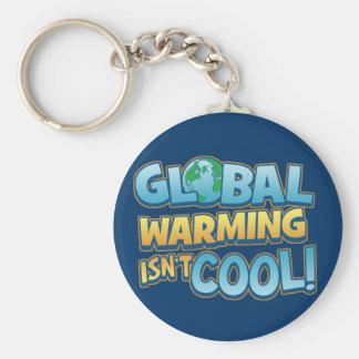 Global Warming Isn't Cool Keychain