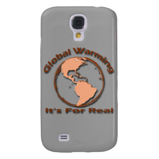 Global Warming Its For Real brown Samsung Galaxy S4 Cover