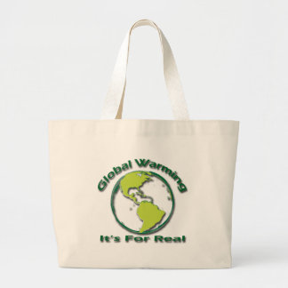 Global Warming Its For Real green Tote Bag