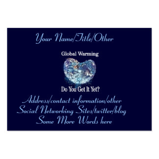 Global Warming Large Business Card