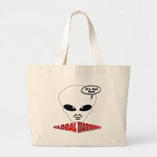 Global Warming Large Tote Bag