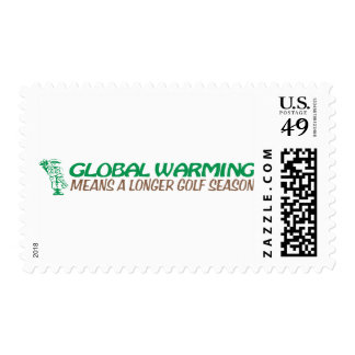 Global Warming Means A Longer Golf Season Postage Stamps