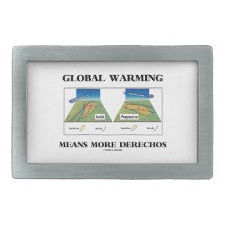 Global Warming Means More Derechos Rectangular Belt Buckle