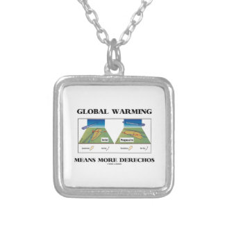 Global Warming Means More Derechos Personalized Necklace