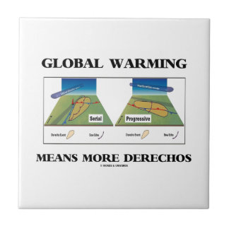 Global Warming Means More Derechos Small Square Tile