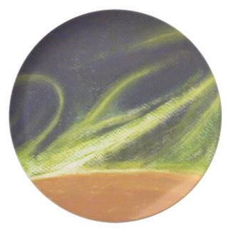 Global Warming Melamine Plate