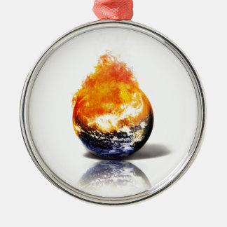 Global Warming Metal Ornament