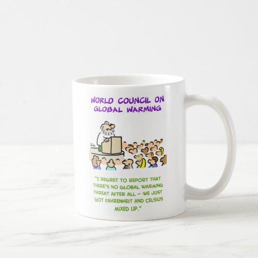 global warming mixed up coffee mug