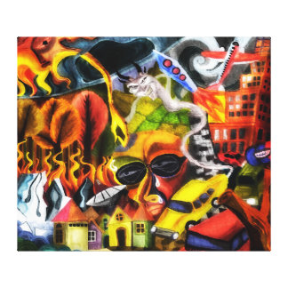 Global warming painting canvas print