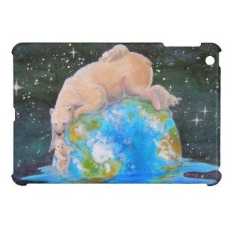 Global Warming Polar Bear and Cubs iPad Mini Cases