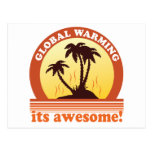 global warming post card