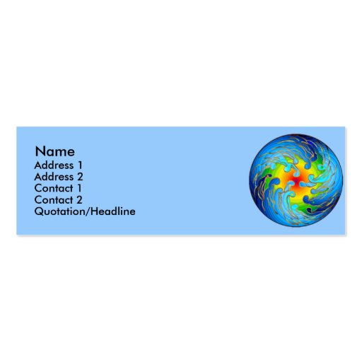 Global Warming Profile Cards Double-Sided Mini Business Cards (Pack Of 20)